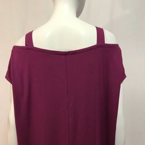 Eileen Fisher Dresses - Eileen Fisher Plum Purple off the shoulder Dress